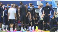 Euro 2016 / 8ème de finale : entraînement de l'équipe de France avant le match contre la République d'Irlande