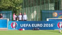 Euro 2016 : illustrations de l'entraînement de l'équipe de France à Clairefontaine-en-Yvelines