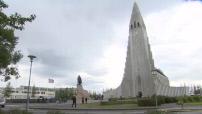 Euro 2016 : illustrations de Reykjavik aux couleurs de l'équipe nationale