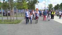 Euro 2016 : illustrations des supporters allemands et italiens aux abords du stade Matmut Atlantique à Bordeaux