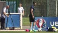 Euro 2016 : entraînement de l'équipe de France à la veille de la finale contre le Portugal