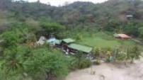 Aerial drone Puerto Obaldia in Panama