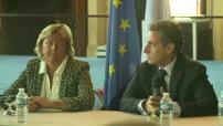Nicolas Sarkozy en visite à Calais