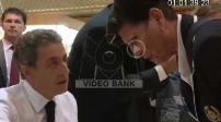 Nicolas Sarkozy en séance de dédicace et en meeting à Perpignan