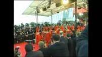Montée des marches cérémonie d'ouverture 54ème festival international du film de cannes.