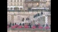Les coulisses de l'opération Don Quichotte sur le parvis de Notre Dame de Paris