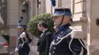 Michèle Alliot-Marie reçoit les femmes du gouvernement Fillon place Beauvau