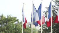 Illustation drapeaux francais et européen