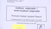 Study on sodium valporate / semi-sodium valporate conducted between 1/1/2000 and January 31, 2001