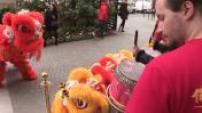 Illustration of Chinese New Year in Paris Shangri La Danse