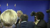 Siège du FN : Conférence de presse de Marine Le Pen et interview Jean-Marie Le Pen