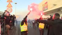 Manifestation de chauffeurs de VTC à Paris et Nice