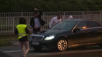 Manifestation des VTC contre la politique d'Uber