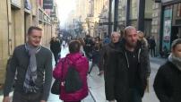 Ill foule dans rue Sainte Catherine à Bordeaux (rue piétonne)