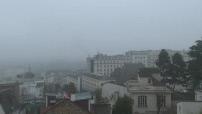 Illustrations du froid et du brouillard à Paris, Nantes et Saint-Etienne