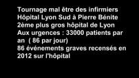 Illustration du travail des infirmiers à l'hôpital de Lyon Sud