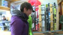 Illustration d'une station de ski et d'équipements innovants pour réduire les efforts
