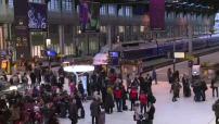 Illustration départs à la Gare de Lyon pour les vacances de février