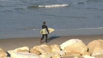 Illustrations plage et surfeurs à Lacanau