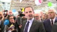 Présidentielle 2017 / Campagne électorale : visite de Benoît Hamon au salon de l'agriculture de Paris