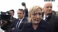Marine Le Pen en visite à Nice