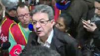 Presidential 2017: Jean-Luc Mélenchon supports employees of a Parisian McDonald's strike (2/2)