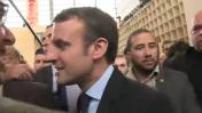 Presidential 2017: Emmanuel Macron visit the Book Fair and ITW Jean-Luc Mélenchon
