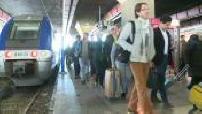 Grève prévue à la SNCF illustrations de l'intérieur de la Gare Saint-Charles