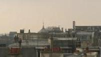 Les toits de Paris vus depuis la terrasse du BHV