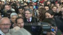 Jean-Luc Mélenchon campaign in Paris: walkabout