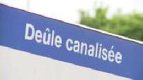 Illustration canal de la Deûle à Lille par temps maussade