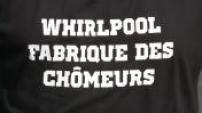 Illustration de l'usine Whirlpool d'Amiens et piquet de grève devant l'entrée du site