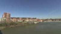 Vue de Toulouse et de la Garonne depuis le pont des Catalans