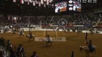 Spectacle de rodéo au Fort Worth Stock Show