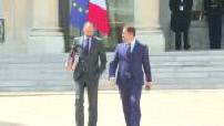 Gouvernement Philippe II : premier conseil des ministres au palais de l'Elysée - sorties