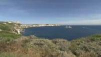 Paquebot à voiles Club Med 2 ancré dans une crique corse