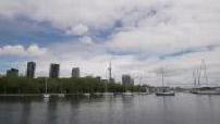 CN Tower vue depuis les Toronto Islands