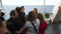 Felicity Huffman en interview au Festival de la Télévision de Monté Carlo