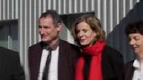 Nathalie Kosciusko-Morizet campaign for Primary right, visiting the Dordogne companies