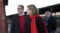 Nathalie Kosciusko-Morizet visite une laiterie, en campagne pour les Primaires de droite