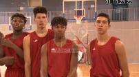 Training of young basketball U16 INSEP