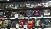 Radius child seats in a store