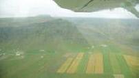 Iceland landscapes seen flight