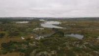 Campagne islandaise vue par drone