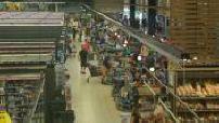 Timelapse crates supermarket