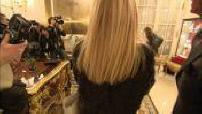 Natalia Vodianova et Justin Portman à une réception après son défilé pour Etam