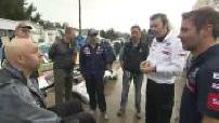 Participation of Philippe Croizon in the Dakar Rally (05/14) : Sébastien Loeb admires Philippe Croizon's achievement