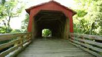 Route 66 : pont couvert en bois