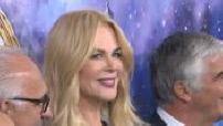 """Nicole Kidman inaugure les vitrines de Noël du """"Printemps"""" à Paris"""