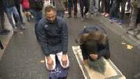 manifestation of elected against street prayers in Clichy la Garenne